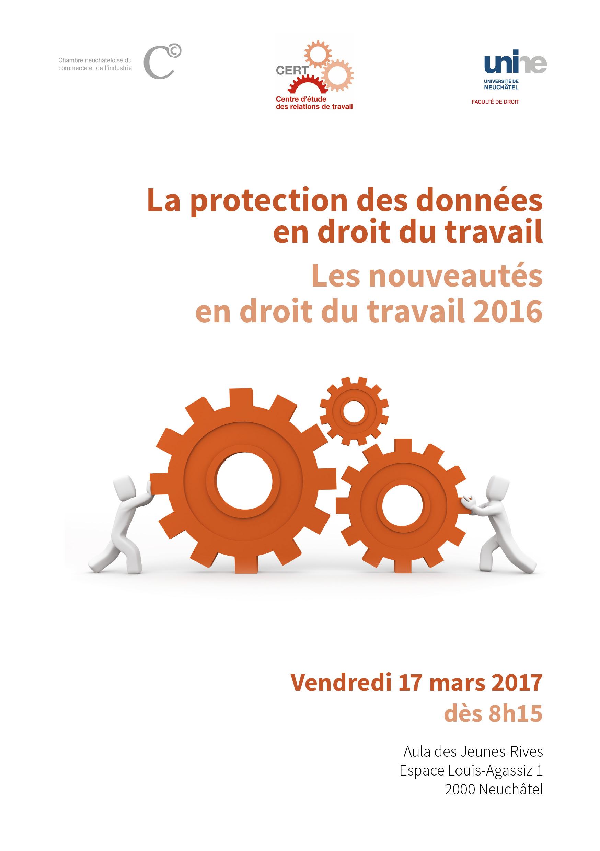La protection des données en droit du travail - Les nouveautés en droit du travail 2016