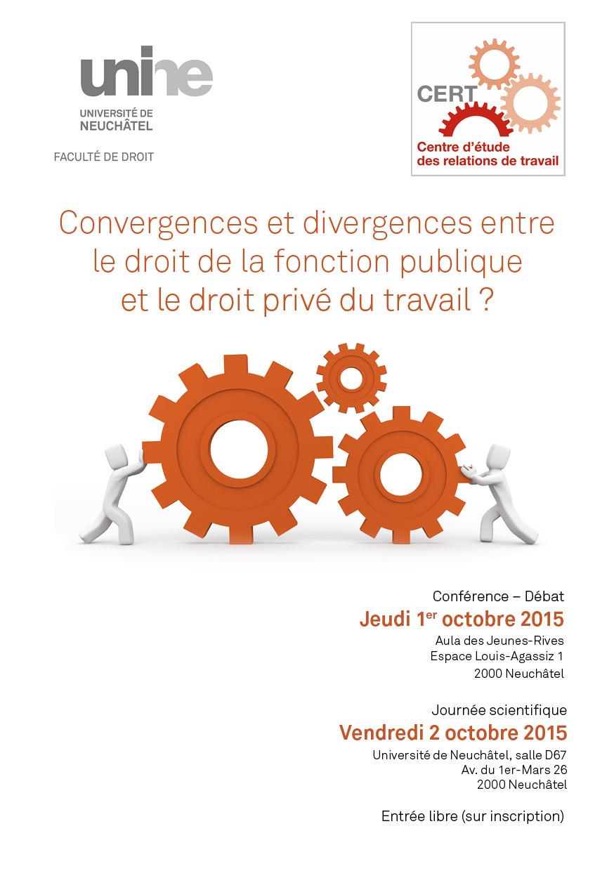Convergences et divergences entre le droit de la fonction publique et le droit privé du travail ?