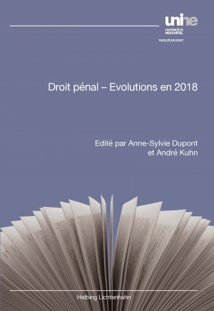 Droit pénal - Evolutions en 2018