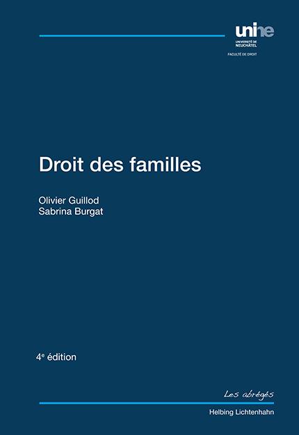 Droit des familles - 4e édition