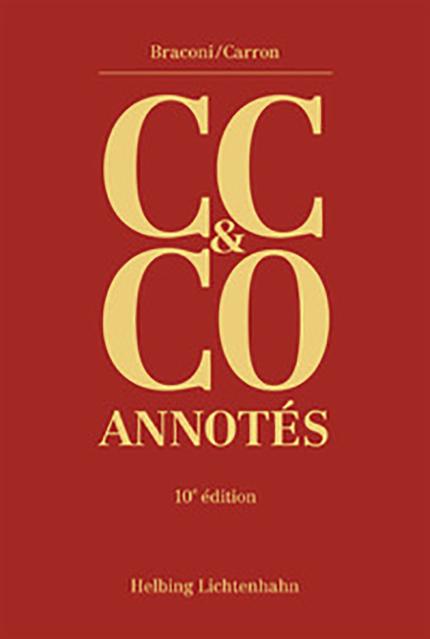 Code civil suisse et Code des obligations annotés (CC & CO)