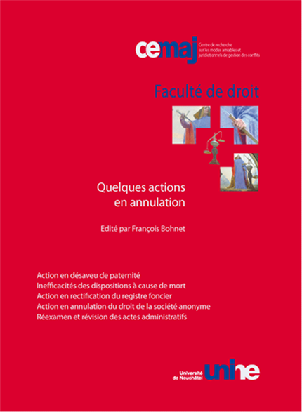 Quelques actions en annulation