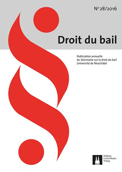 Revue Droit du bail 28/2016