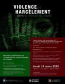 Violence et harcèlement dans le monde du travail