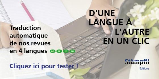 Traduction automatique de nos revues en 4 langues